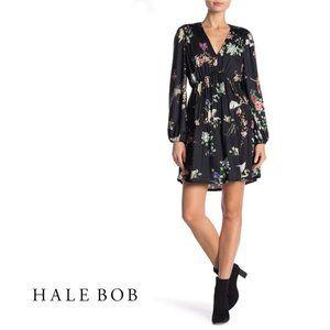 NWT HALE BOB Floral V-Neck Long Sleeve Dress
